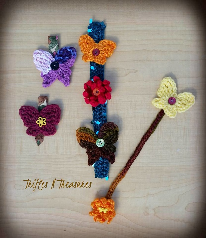 Autumn Butterflies&Button Mums2~TriflesNTreasures