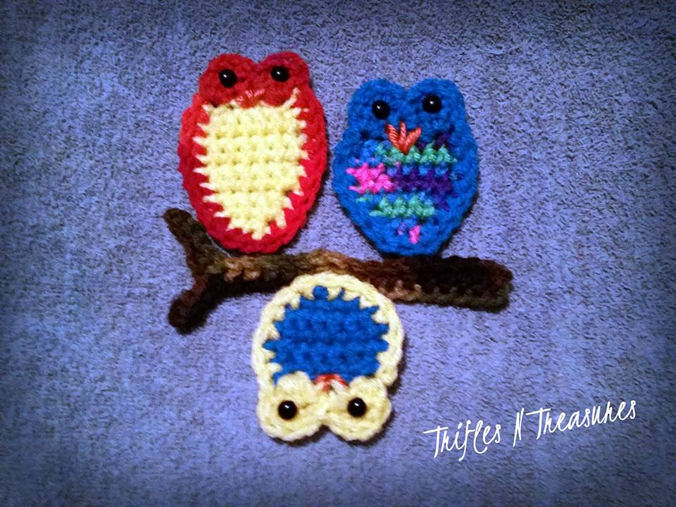 Two-Color Owl Trio