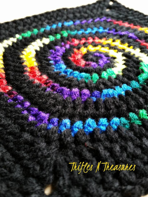 Stained Glass Spiral Squarefree Crochet Pattern Trifles Treasures